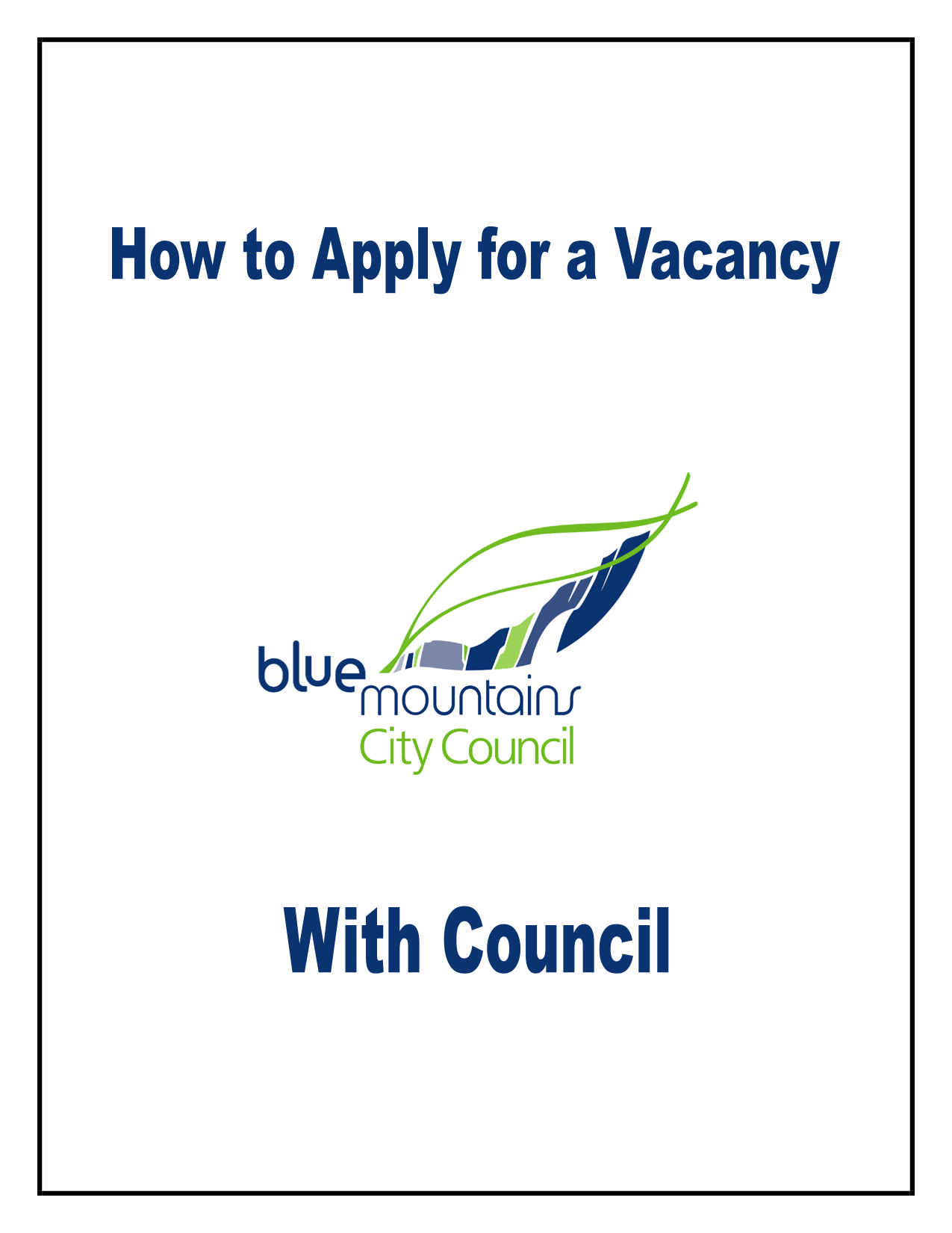 How to Apply for a Vacancy