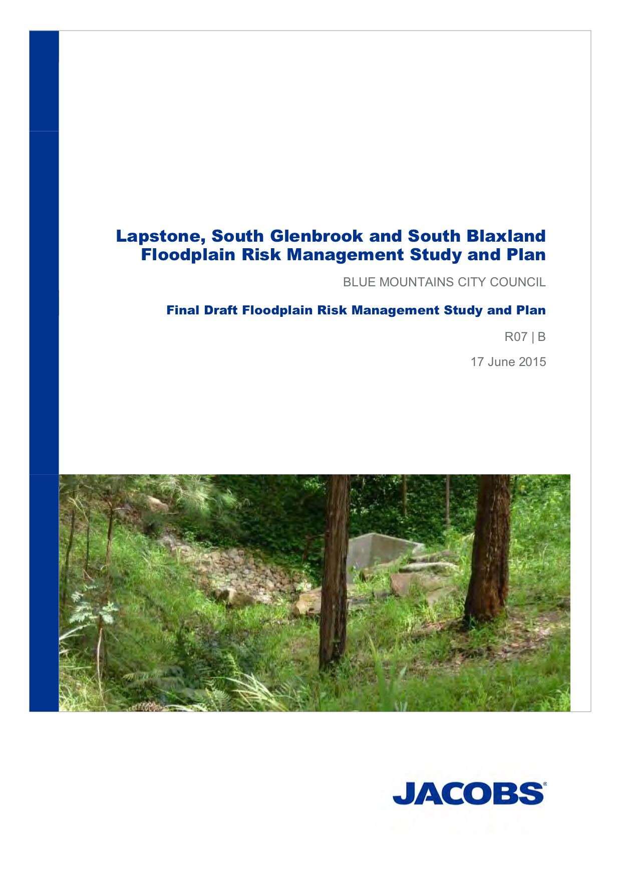 Lapstone South, South Glenbrook and South Blaxland Flood Risk Management Study and Plan