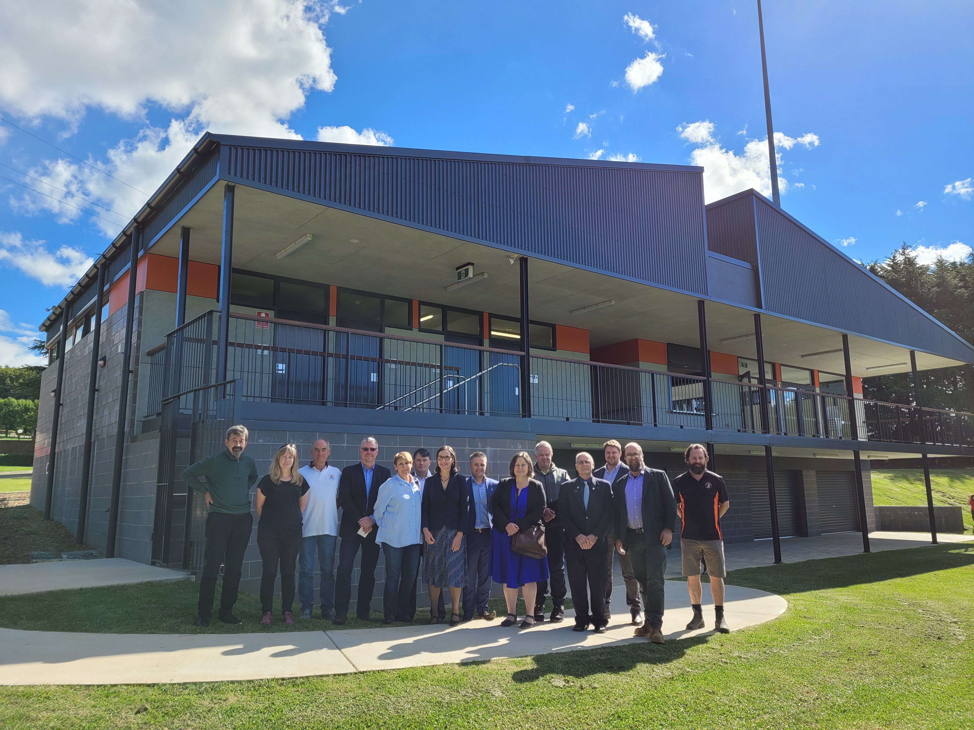 The official opening of Pitt Park Clubhouse at Wentworth Falls.