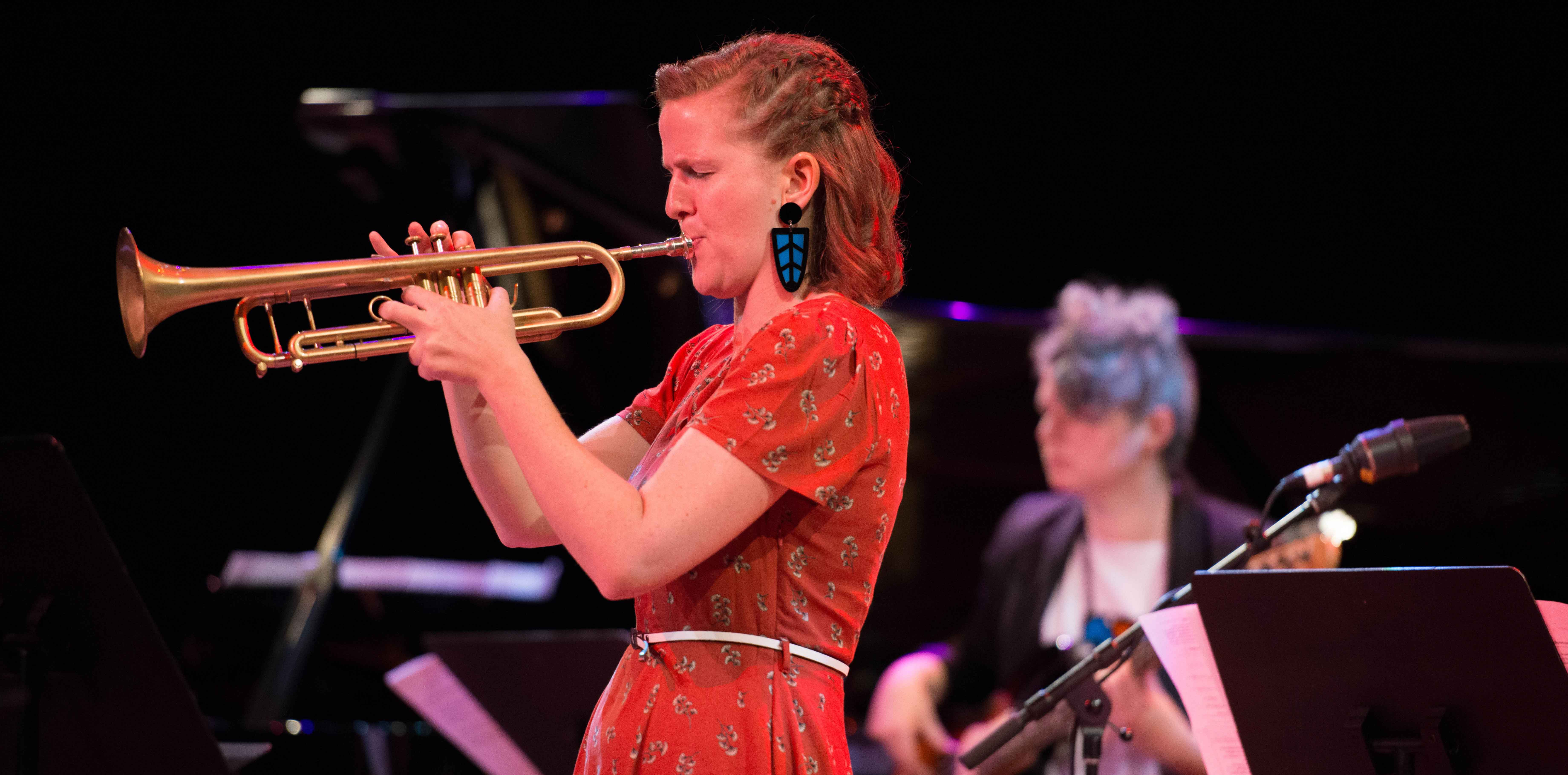 Pic: Ellen Kirkwood from Sirens Big Band.