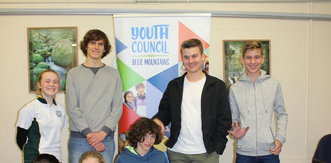 Members of the Blue Mountains Youth Council, photographed in 2018.