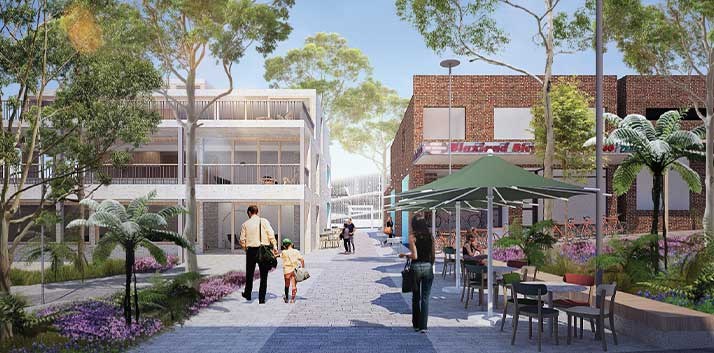 An artist's impression of the new Town Centre at Blaxland