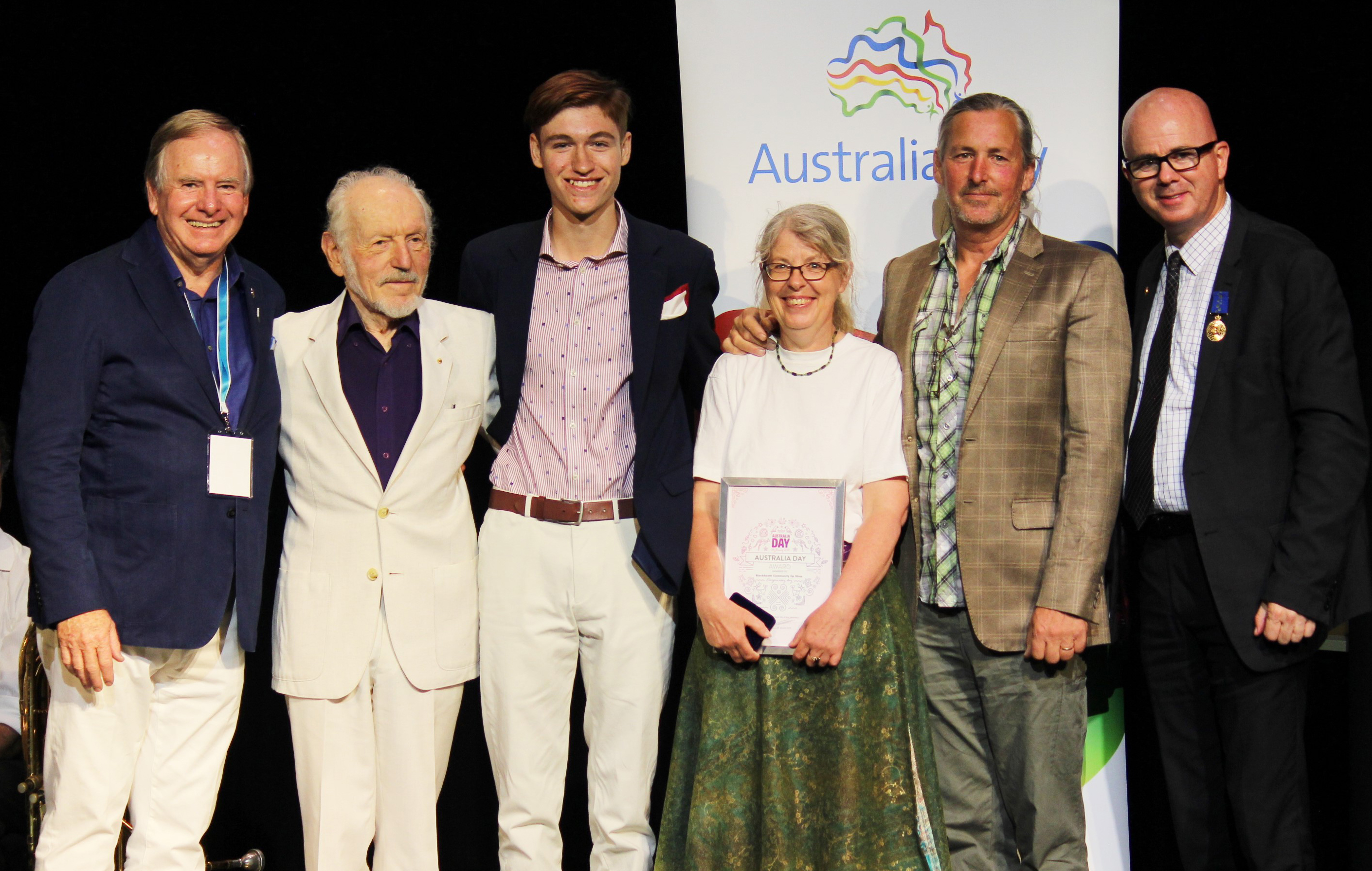 Blue Mountains Local Australia Day Award recipients with the mayor