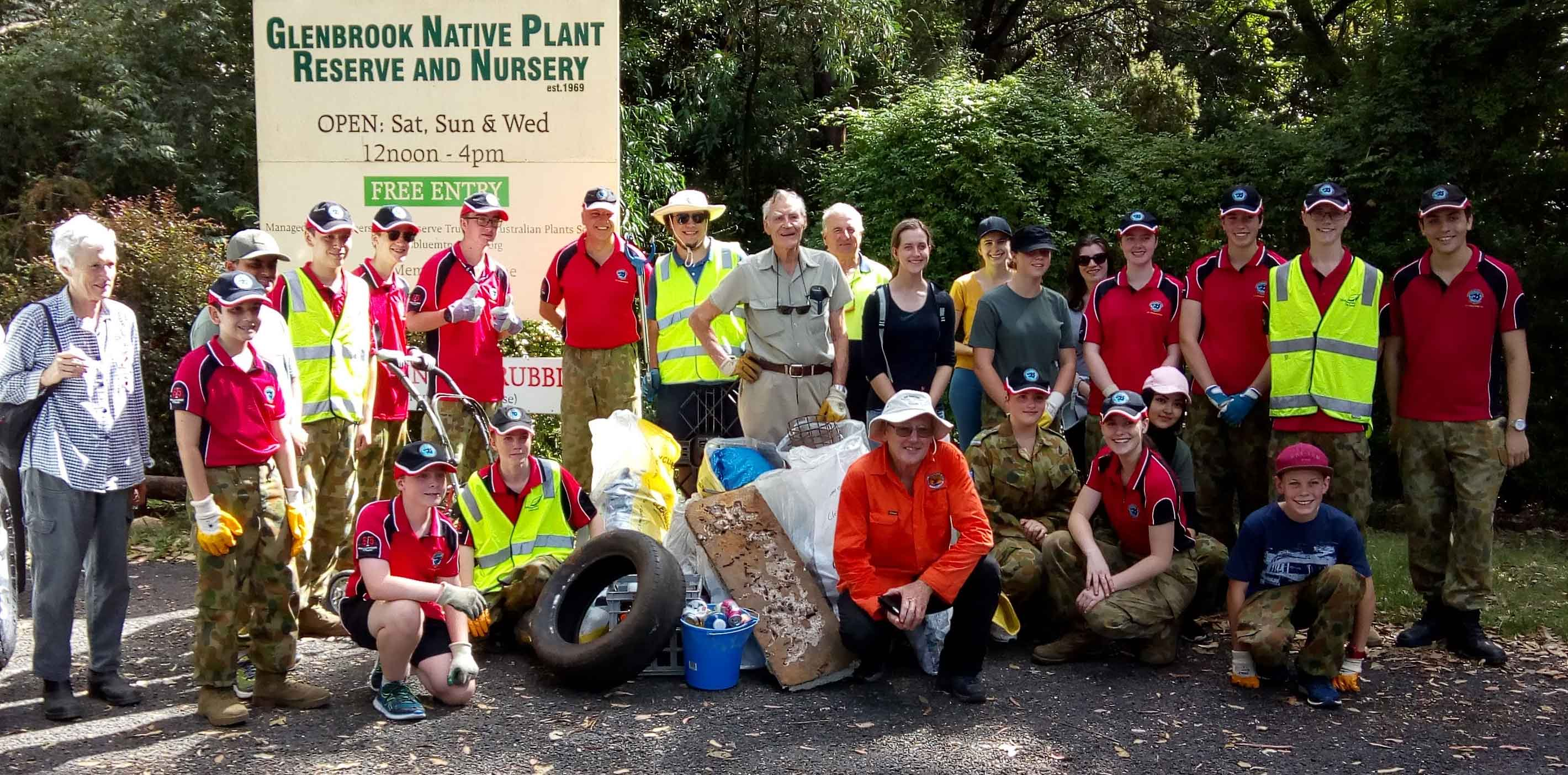 Glenbrook Native Plants Society participated in Clean Up Australia Day 2019 with Air Cadets and volunteers from the area.