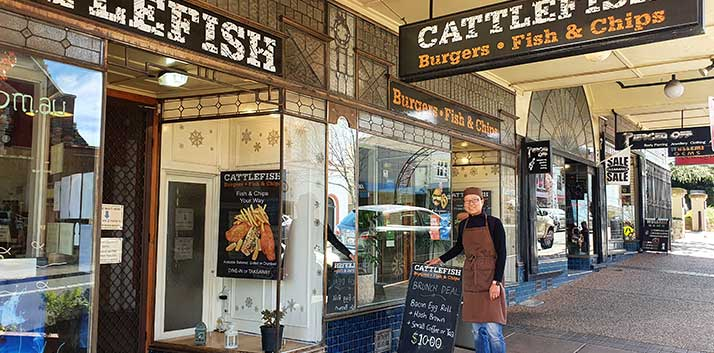 Locally owned small business, Cattlefish in Katoomba