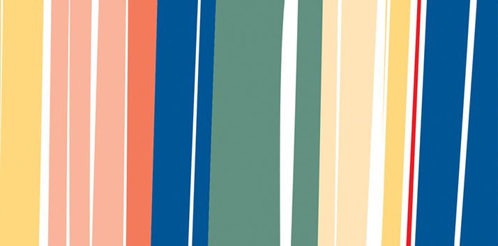 Decorative image only - colourful angular stripes