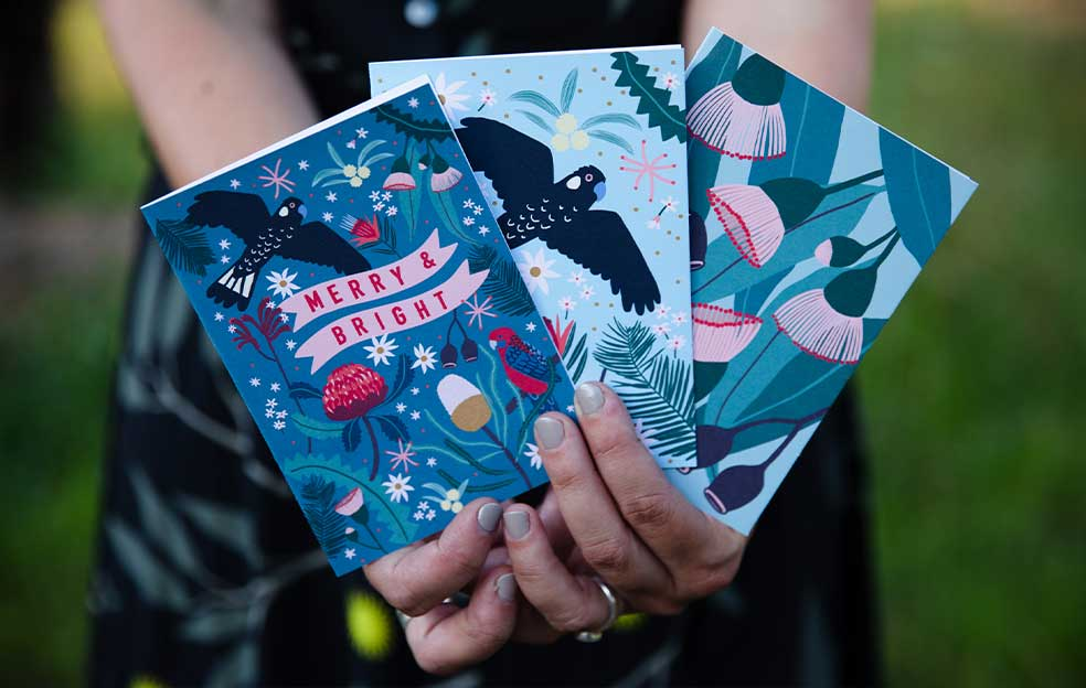 Festive cards designed by Meeri Anneli