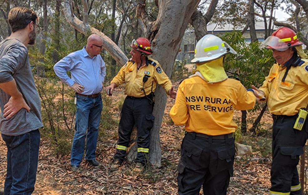 Mayor Mark Greenhill with local RFS members during 2019-2020 bush fires_Th.png