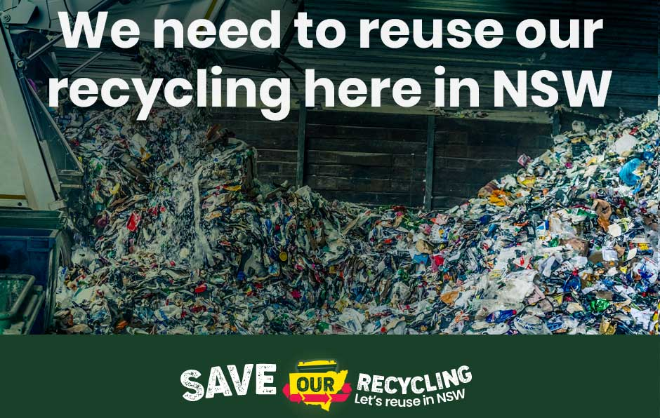 Save Our Recycling button