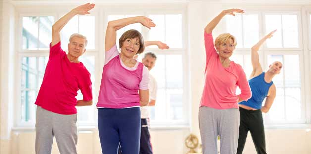 Seniors in exercise class