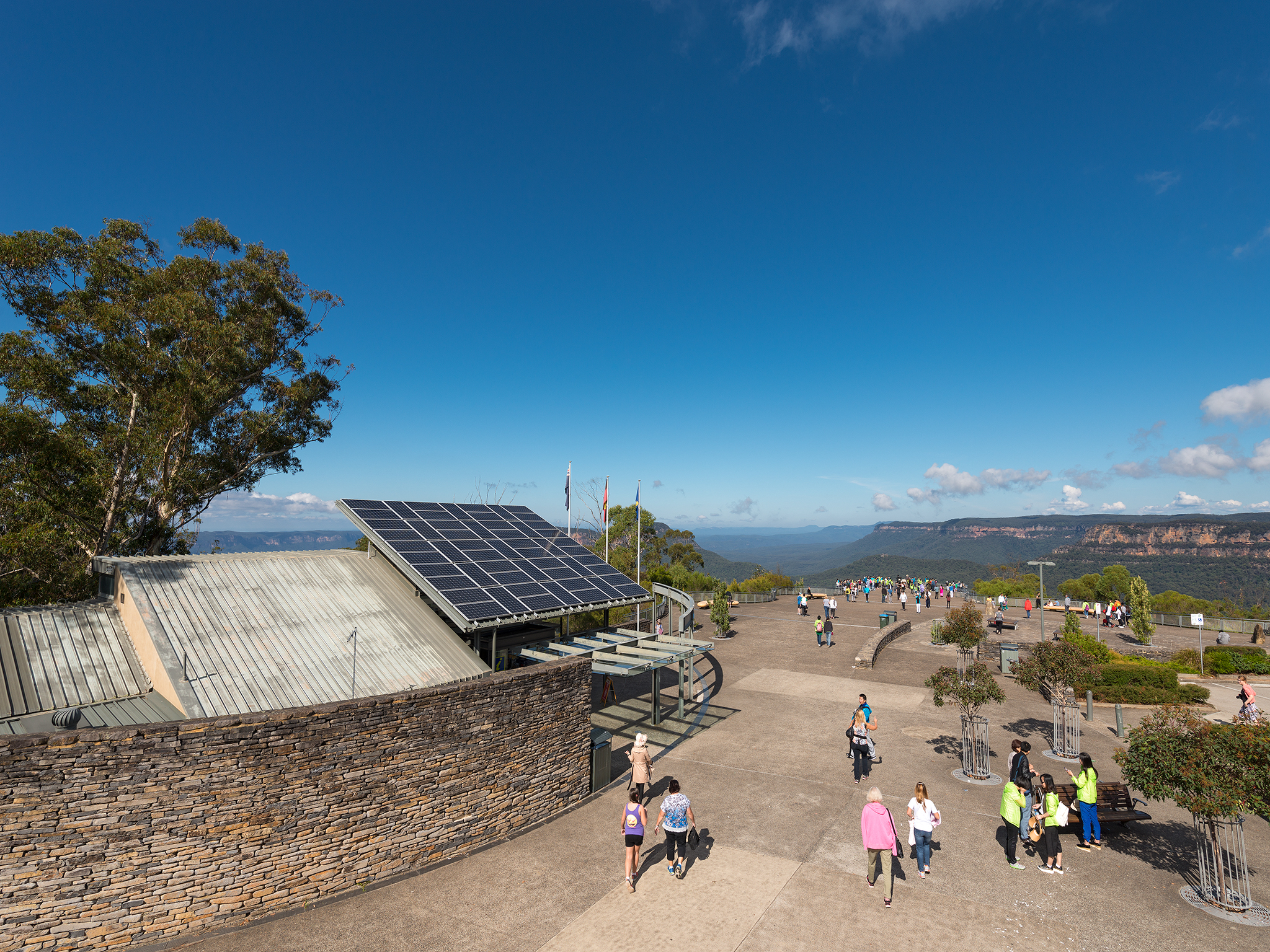 Solar panels on VIC at Echo Point