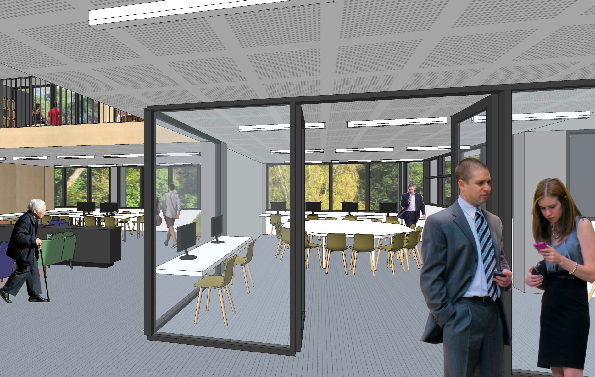 An artist's impressions of the new media & reading area at Springwood library