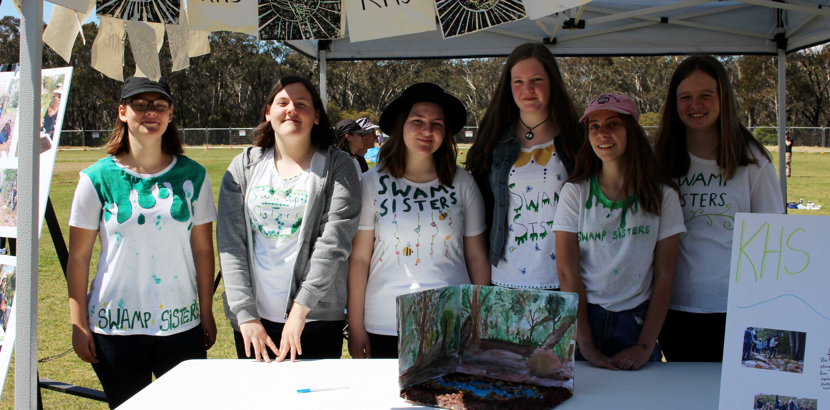 The Swamp Sisters from Katoomba High School - at Swampfest 2018.