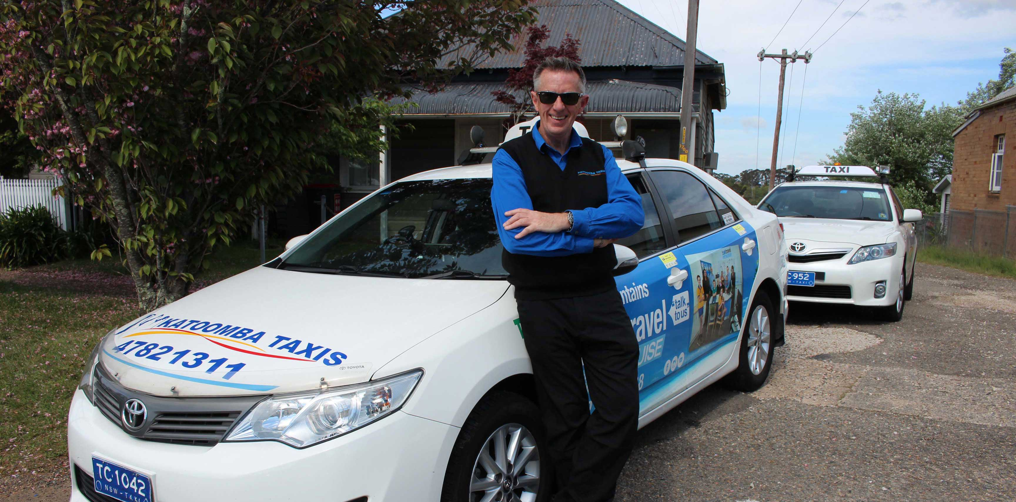 Director of Katoomba Taxis, Mike Hayden