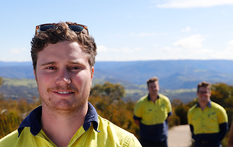 Council Employees at Cahill's Lookout