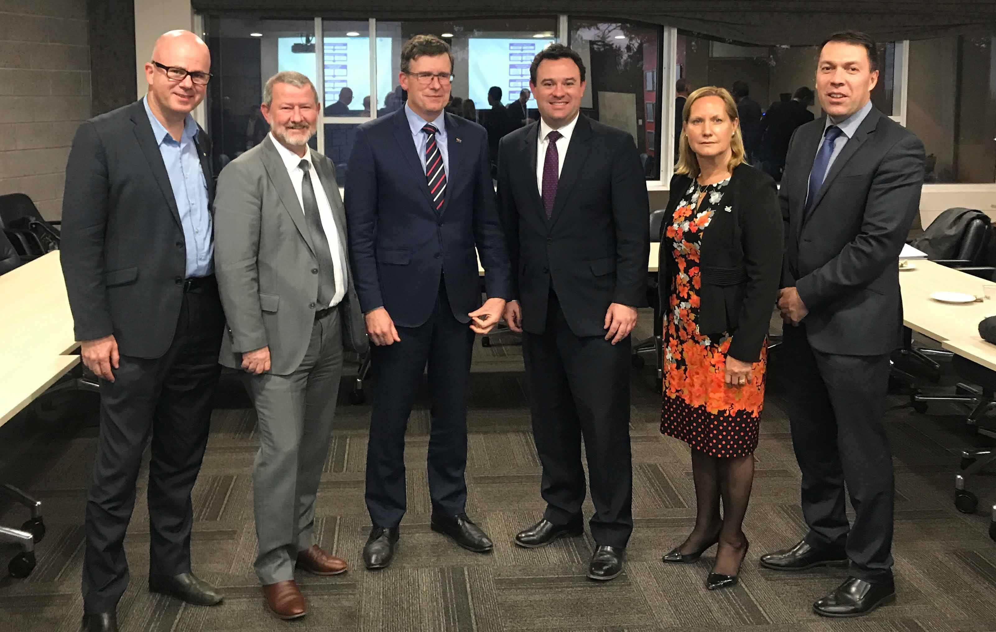 Council has nominated six key projects for up to $15 million of funding under the Western Sydney City Deal Liveability Program. Mayor, Cr Mark Greenhill (left) is part of the Western Sydney City Deal Mayor's Leadership Group, with Penrith Mayor, Minister Tudge, Minister Ayers, Wollondilly Mayor and Campbelltown Mayor