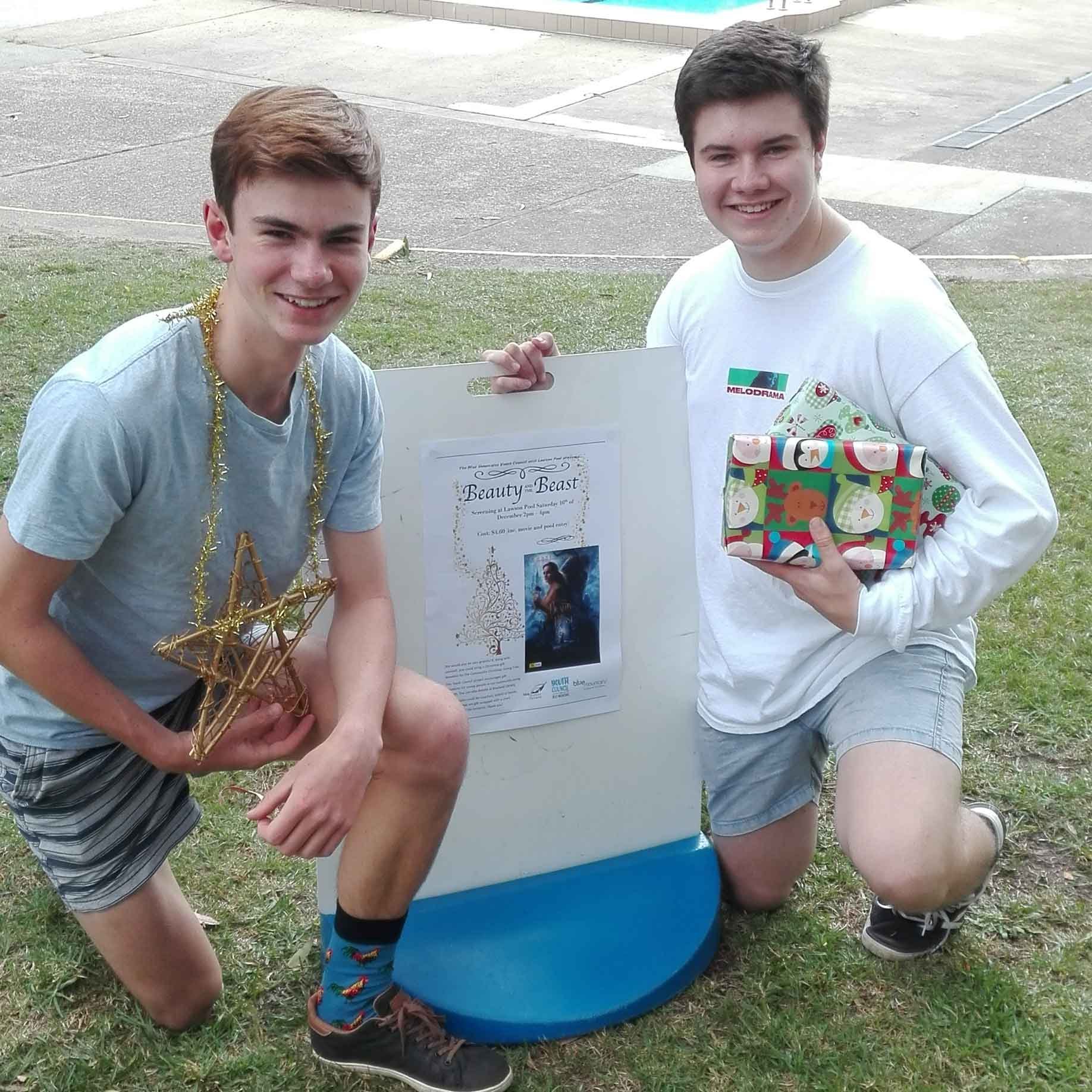 Blue Mountains Youth Councillors Jack Prowse & Andrew Gunn are ready to party at Lawson on Saturday 16 December